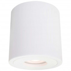 LAMPA sufitowa FARO LP-6510/1SM XL WH Light Prestige downlight OPRAWA metalowa tuba do łazienki IP44 biała