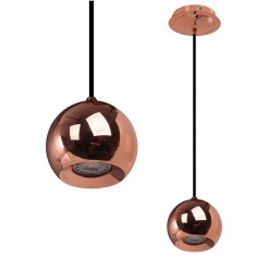 LAMPA wisząca JAMES COPPER FH5951-BCB-120 RC Italux metalowa OPRAWA ZWIS halogenowa do salonu IP20 kula miedź